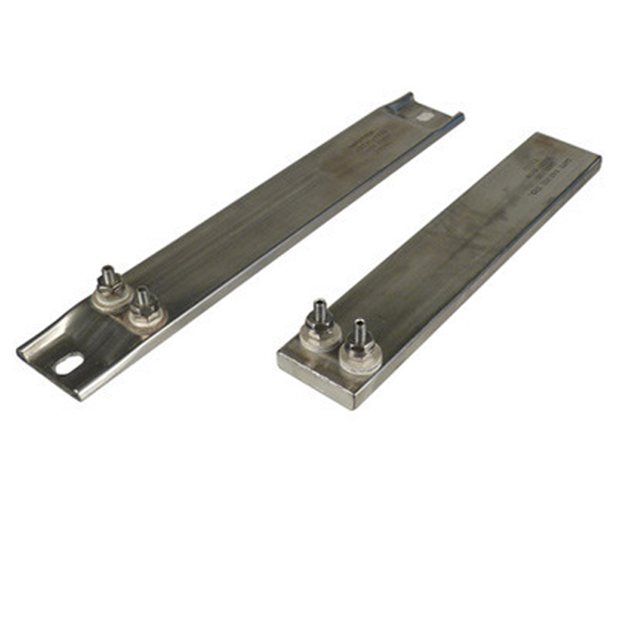 "Stainless Steel Strip Heater - Offset Terminals, 240v, 1200w, 19.5"" long"